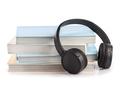 Modern headphones with hardcover books - PhotoDune Item for Sale
