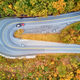Scenic highway hairpin turn in autumn - PhotoDune Item for Sale