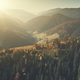Panoramic hill chain scenery sun beam aerial view - PhotoDune Item for Sale