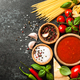 Cooking table with ingredients. Italian cuisine concept - PhotoDune Item for Sale