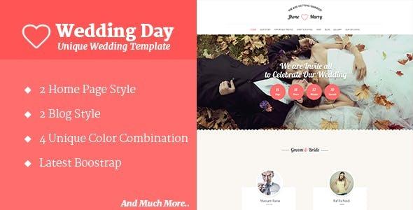 Wedding Day - HTML Template