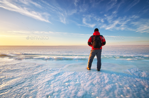 Man and winter - Stock Photo - Images