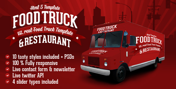 Food Truck & Restaurant 10 Styles - HTML5 Template by createit-pl