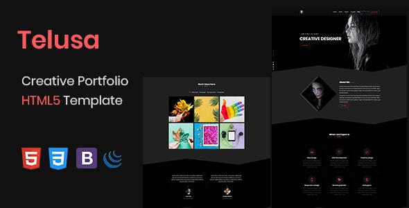 Telusa – Creative Portfolio HTML5 Template | MasterTemplate