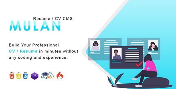 Download Mulan - Resume / CV CMS