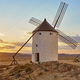 Traditional antique windmills at sunset in Spain. Consuegra, Toledo. Travel  - PhotoDune Item for Sale