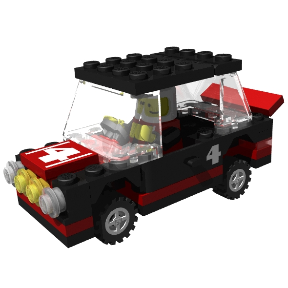 LEGO rally car
