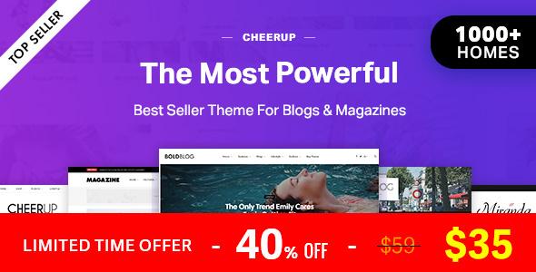 CheerUp Blog / Magazine - WordPress Blog Theme