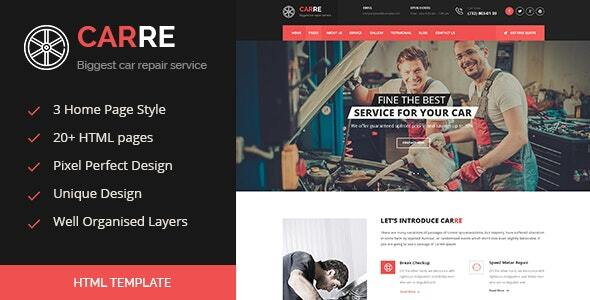 Car RE - Auto Mechanic & Car Repair HTML Template