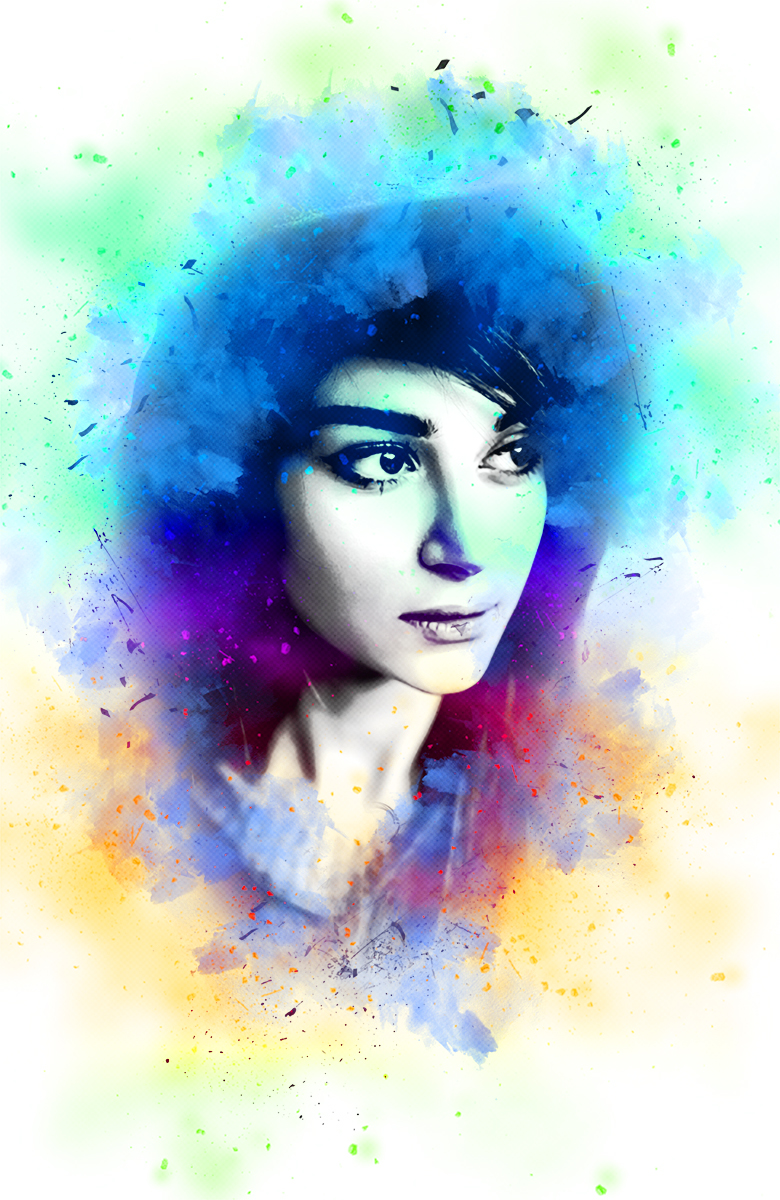 Ink Portrait Photoshop Action