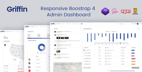 Wonderful Griffin - Developer-friendly Bootstrap 4 Admin Dashboard & UI Kit