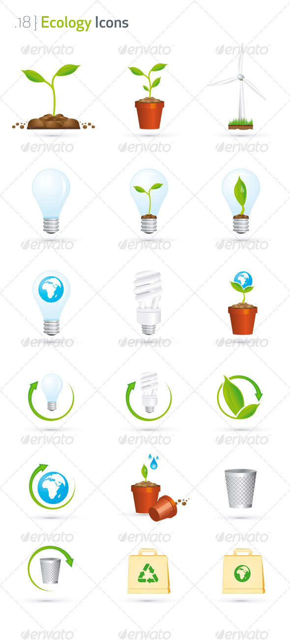 Download Ecology Icon Set AI EPS Vector
