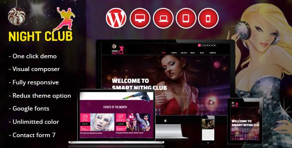 Night Club - One Page WordPress Theme For Parties by vergatheme