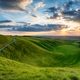 Dramatic sunset sky over The Manger at Uffington - PhotoDune Item for Sale