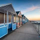 Pretty beach huts on the promenade at Southwold - PhotoDune Item for Sale