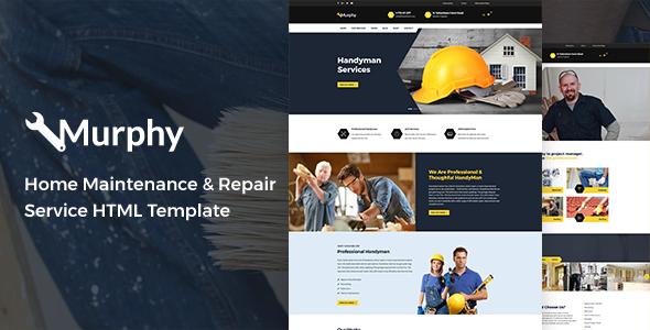 Murphy - Home Maintenance & Repair Service HTML Template