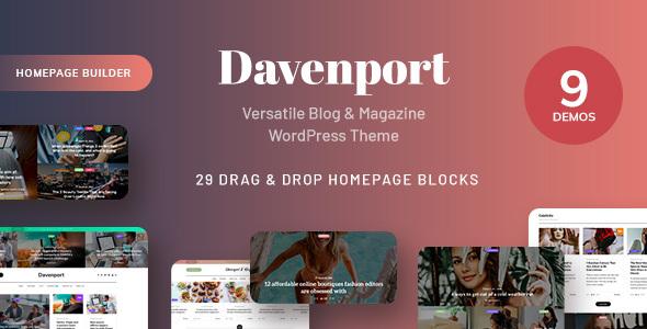 Super Davenport - Versatile Blog and Magazine WordPress Theme
