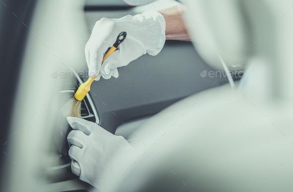 Modern Car Detailing Work - Stock Photo - Images