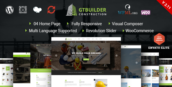 GTBuilder - Construction & Building WordPress Theme