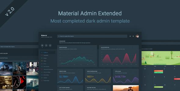 Material Admin Extended - Dark Responsive Template
