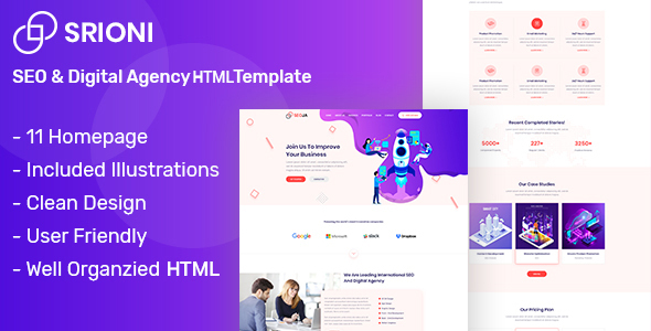 Seoja - SEO & Digital Agency HTML Template