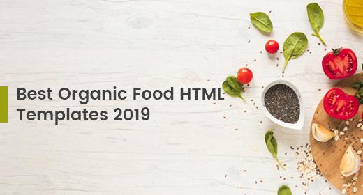 Best Organic Food HTML Templates 2019