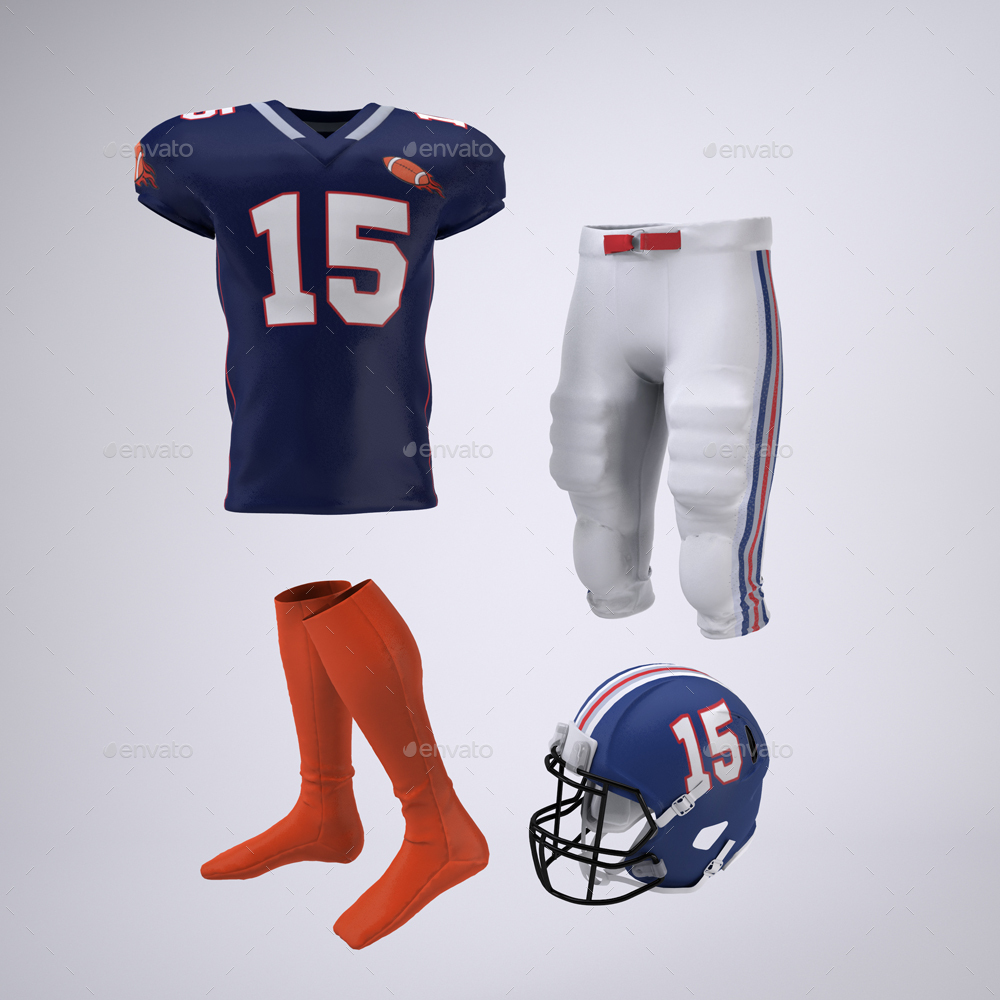 Download American Football Player S Uniform Mock Up By Sanchi477 Graphicriver Free Mockups
