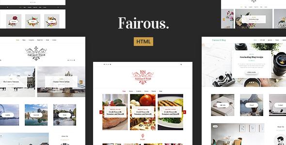 Wonderful Fairous - Elegent HTML Blog Template