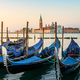 Moored Gondolas at venetian sunrise - PhotoDune Item for Sale