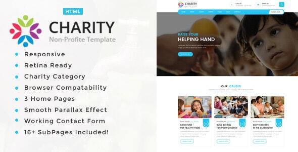 Charity Non-Profit HTML5 Template