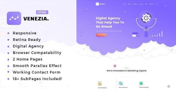 Venezia - SEO /Digital Agency HTML5 Template