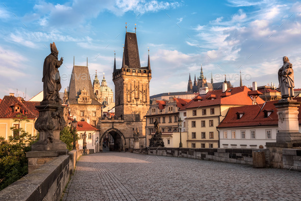 Charles Bridge in Prague - Stock Photo - Images