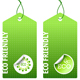Three Vector Green Bio Labels - GraphicRiver Item for Sale