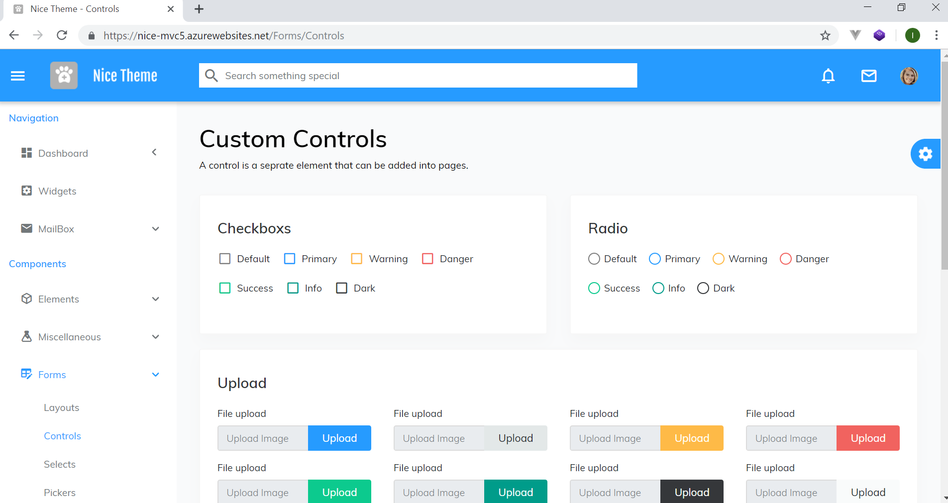 Nice Theme Combo - ASP NET Admin Template