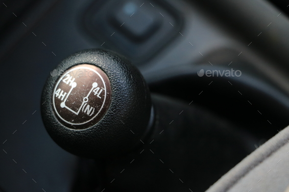 4X4 gear shift - Stock Photo - Images