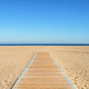 Empty beach and wooden path - PhotoDune Item for Sale