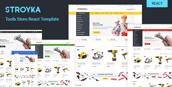 stroyka tools store react ecommerce template by kos9. Black Bedroom Furniture Sets. Home Design Ideas