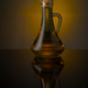 Bottle with vegetable oil on a colored background - PhotoDune Item for Sale