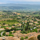 View of houses and surrounding fields in St Saturnin les Apt, France - PhotoDune Item for Sale