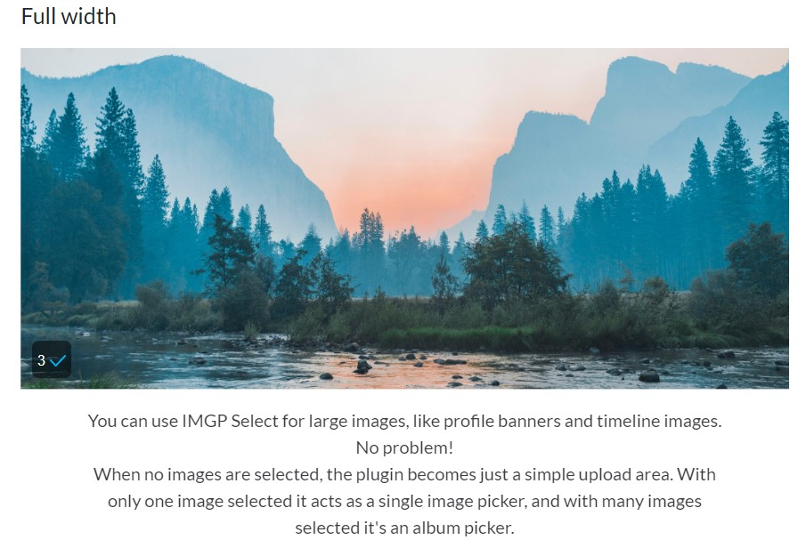 IMGP Select–Image select plugin for the modern browser - 4