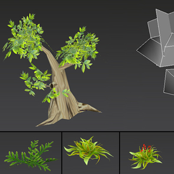 Trees LowPoly - 3DOcean Item for Sale