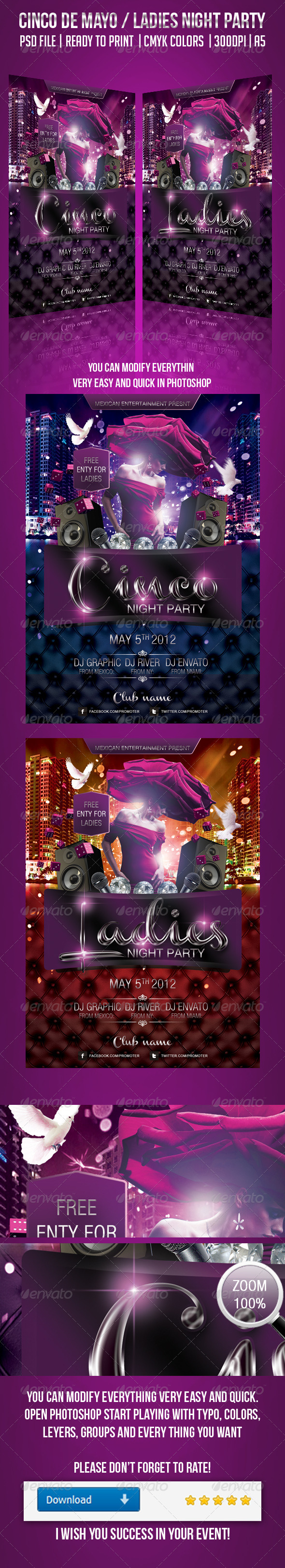Cinco Night Party   - Clubs & Parties Events