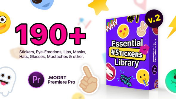 Essential Stickers Library | MOGRT for Premiere Pro