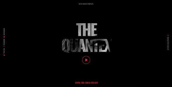 Wonderful Quantex - Creative Coming Soon Template