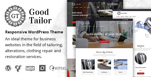 Good Tailor - Fashion & Tailoring Services WordPress Theme