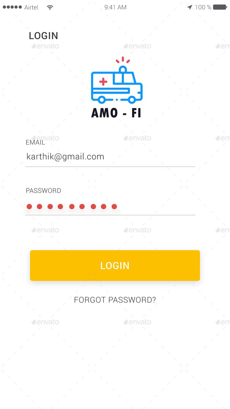 Ambulance Finder App Full UI