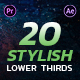 Stylish Lower Thirds Pack - VideoHive Item for Sale