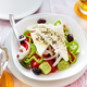 Greek salad with fresh vegetables, feta cheese and black olives - PhotoDune Item for Sale