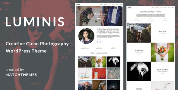 Nice Luminis - Photography WordPress Theme for Wedding, Travel, Event Portfolios