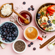 Healthy breakfast set with coffee and granola - PhotoDune Item for Sale